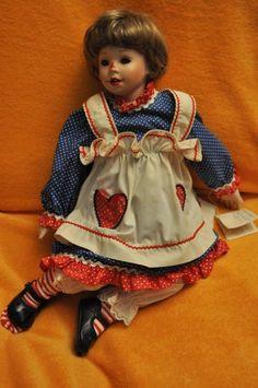 Raggedy Ann porcelian doll by The Danbury Mint