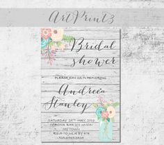 Beautiful Bridal Shower Invitation