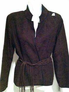 Chicos 1 Silk Embroidered Bohemian Jacket Top Sz 8 10 +Free Fringe Belt!  eBay NWT $17.99
