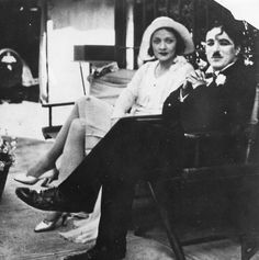 Marlene Dietrich and Charles Chaplin, 1920s.