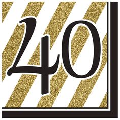 Descriptions Black & Gold 40th Lunch Napkins - Design : Black & Gold Features - Birthday Ships within 4 Business Days                                                                                                                                                                                 More