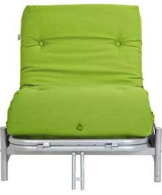ColourMatch Single Futon Sofa Bed with Mattress- Apple Green