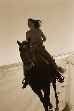 i hope to ride a horse on a beach someday. it always looks fun in the movies haha