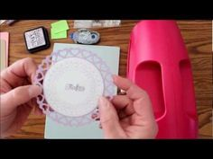 Video on How To  use stamps that will match to Spellbinders dies. Die Cutting & Embossing Machine used is the Grand Calibur, however you can use whichever machine you want.