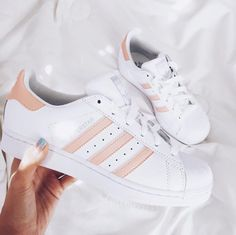 Adidas Originals Superstar Rose and White