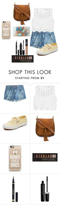 """""""ready for summer"""" by bonnie-and-newsies12 ❤ liked on Polyvore featuring AG Adriano Goldschmied, Miguelina, Superga, Chloé, Casetify, Forever 21, Yves Saint Laurent, Marc Jacobs, NARS Cosmetics and Summer"""