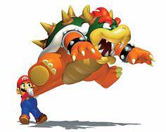 Mario swinging Bowser (Super Mario 64)