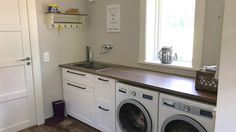Modern Laundry Rooms, Laundry Room Design, Mudroom, Küchen Design, Stacked Washer Dryer, Washing Machine, New Homes, Home Appliances, House