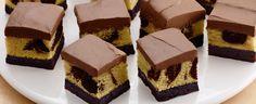 Chocolate Almond Brownie Bottom Squares