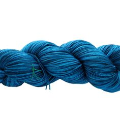 Hand Dyed Sock Yarn  Fiona Helix Fat Maryland Blue by gnarledpaw, $30.50