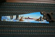 Painted Hand Saws With Cabins | Hand Saw Winter Farm | Flickr - Photo Sharing!