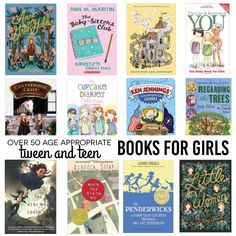 Over 50 Tween and Teen appropriate books for girls - a little something for everyone.