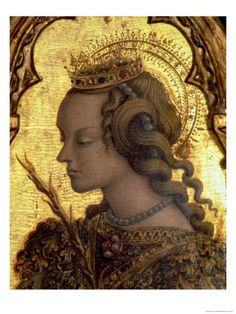 St. Catherine of Alexandria, Detail from the San Martino Polyptych Giclee Print by Carlo Crivelli at Art.co.uk