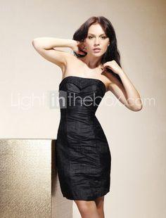Sheath/ Column Strapless Knee-length Taffeta Bridesmaid/ Wedding Party/ Homecoming Dress. $97.99.