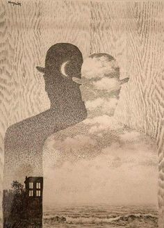 "Rene Magritte - ""The Thought Which Sees"" Rene Magritte, Sylvia Plath, Conceptual Art, Surreal Art, Poesia Visual, Classical Realism, Art For Art Sake, Artist At Work, Collage Art"