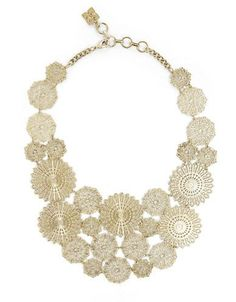Jewelry & Accessories | Fashion Jewelry | Filigree Disc Statement Necklace | Lord and Taylor