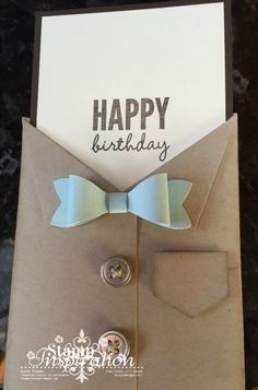 Masculine Card using the Mini Treat Bag Framelits Dies by Kerry Timms Stampin Up Demonstrator UK