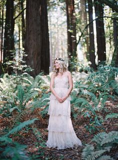 Bohemian Blush Wedding Dress for Woodland Wedding