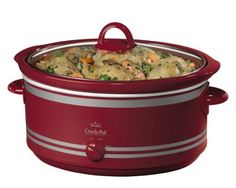 CrockPot SCV702 7Quart Oval Manual Slow Cooker Red >>> You can find out more details at the link of the image. (This is an affiliate link)