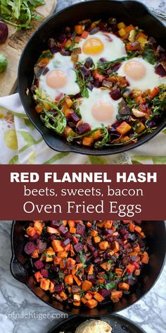 Red Flannel Hash from Spinach tiger, makes the perfect Holiday weekend brunch or Christmas breakfast. Breakfast Cassarole, Breakfast Hash, Second Breakfast, Real Food Recipes, Cooking Recipes, Healthy Recipes, Cooking Bacon, Healthy Breakfasts, Healthy Eats