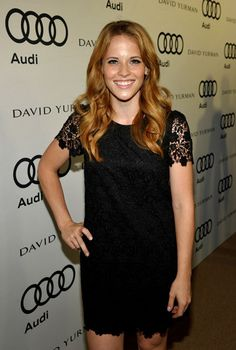 Katie Leclerc.. love  her hair and her dress!