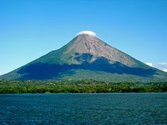 Nicaragua -Concepción volcano on Ometepe island - the tallest lake island in the world.