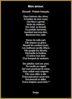 French Love Poems, Love Heart Gif, Romantic Poems, Amor, Forever Love, Best Poems, Romantic Poetry