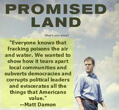 Matt Damon on fracking...