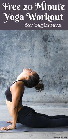 Free 20 Minute Yoga Workout For Beginners | Avocadu.com