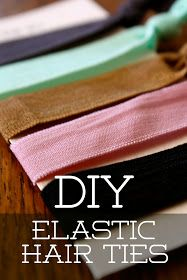 DIY HAIR TIES...who knew it could be that easy? I must try this...my daughter is always losing hair ties and I hate buying them...I should have bought stock in the company. Anyway...I must try this!