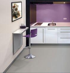 #cocinas Mesa de cocina para pared