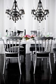 Dining Room #black and white