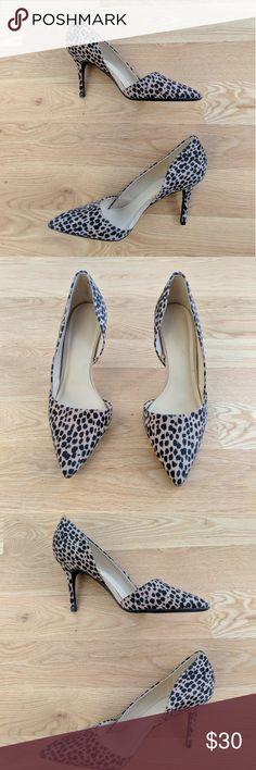 Leopard Heels Old Navy leopard heels true 10 Old Navy Shoes Heels