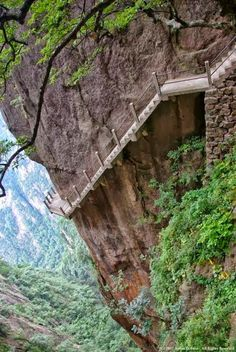 Cliff Path, Huangshan Mountain, China How was this ever built?