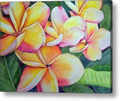 Plumeria Acrylic Print by Marilyn Fuerstenberg. All acrylic prints are professionally printed, packaged, and shipped within 3 - 4 business days and delivered ready-to-hang on your wall. Abstract Watercolor, Watercolor Flowers, Watercolor Paintings, Watercolors, Flower Pot Design, Flower Art, Silk Painting, Painting Trees, Illustrations