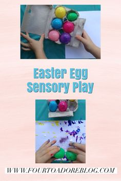 Easter Egg Sensory Play with paint Easter Activities, Activities For Kids, Plastic Easter Eggs, Paint Splatter, Sensory Play, Toddler Crafts, Create, Painting, Children Activities