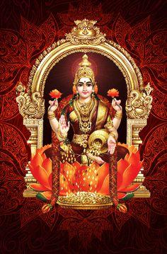 Lakshmi has also been a goddess of abundance and fortune for Buddhists Shiva Parvati Images, Durga Images, Lakshmi Images, Lakshmi Photos, All God Images, Lord Rama Images, Yoga Studio Design, Divine Goddess, Kali Goddess