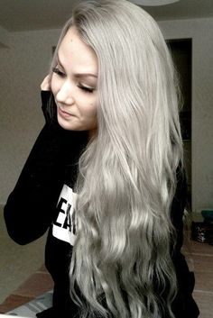 Pix For > Silver Grey Hair Color