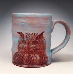 Owl Ceramic Mug by Justin Rothshank
