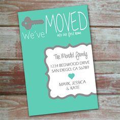 We've moved. Printable change of address card.