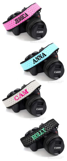 Monogrammed Camera Strap from Marleylilly.com