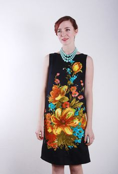 Vintage 60s Dress  Tropical Shift  Aline Trapeze  Mod by VeraVague, $115.00   Vintage but so in fashion.