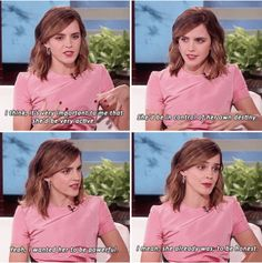 Emma Watson talks about how she wanted to play 'Belle' on The Ellen Show Harry Potter Feels, Harry Potter Actors, Harry Potter Jokes, Harry Potter Fandom, Harry Potter World, Emma Watson Feminism, Emma Watson Quotes, Modele Pixel Art, Emma Watson Beautiful