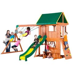 Backyard Discovery™ Somerset Wooden Swing Set Brown/Brown - Outdoor Games And Toys, Swing Sets/Bounce Houses at Academy Sports