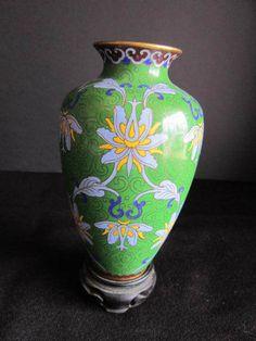 Vintage Cloisonne Chinese Vase   $35