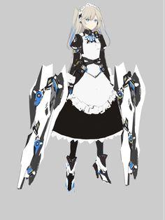 Fantasy Character Design, Character Design Inspiration, Character Concept, Character Art, Concept Art, Cyborg Anime, Sci Fi Anime, Anime Art, Cyberpunk Art