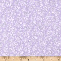 Mini Floral Lilac/White from @fabricdotcom  From Richlin, this fabric is perfect for quilting, apparel and home decor accents. Colors include white and lilac.