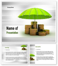 Protected Savings PowerPoint Template with bright stacks of golden coins under green umbrella on the background is a terrific choice for presentations on money safety and protected savings. Details http://www.poweredtemplate.com/11016/0/index.html