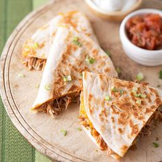 Barbecue Chicken and Cheddar Quesadillas