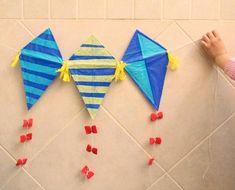 guirnalda de cometas, manualidades para hacer con niños
